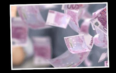 SKL Euro-Joker Gewinne Rente Geldscheine fliegen