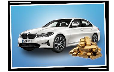 SKL Traumjoker Auto BMW und Goldbarren