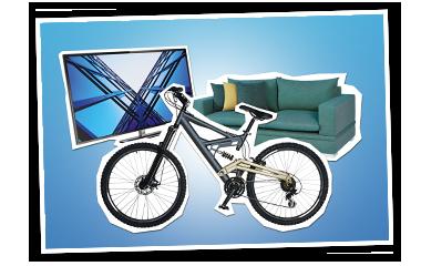 TRAUM-JOKER Gewinn Fernseher Mountainbike Sofa