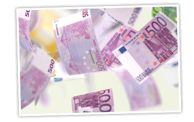 Jede Woche 47.000 x 20 € Bargeld