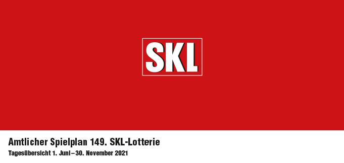 Amtlicher Spielplan des 149. SKL Millionenspiels